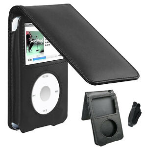 Black-Leather-Case-for-iPod-Classic-80GB-120GB-160GB-6th-7th-Generation