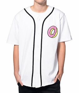 59f31571ee87fb Odd Future OFWGKTA DONUT BASEBALL JERSEY T-Shirt NWT 100% Authentic ...