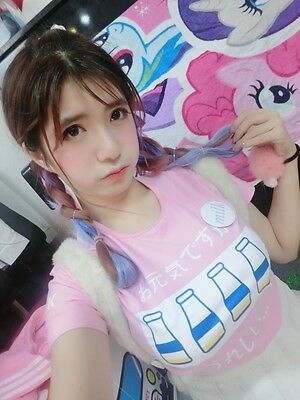 Harajuku Milk Feeding Bottle Lolita Sweet Heart T Shirts Top Cotton Cartoon Cute