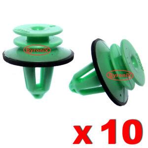 RENAULT ESPACE mk4 & VEL SATIS INTERIOR DOOR PANEL TRIM RETAINER CLIPS GREEN X10