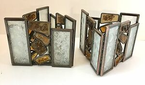 PartyLite-Mirrored-Votive-Candle-Holders-Waters-Edge-Mosaic-Set-of-2