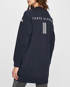 Détails sur Femme Adidas Sport 2 Haut TuniqueRobe DV0784 Bleu Marine Bleu Blanc Petit afficher le titre d'origine