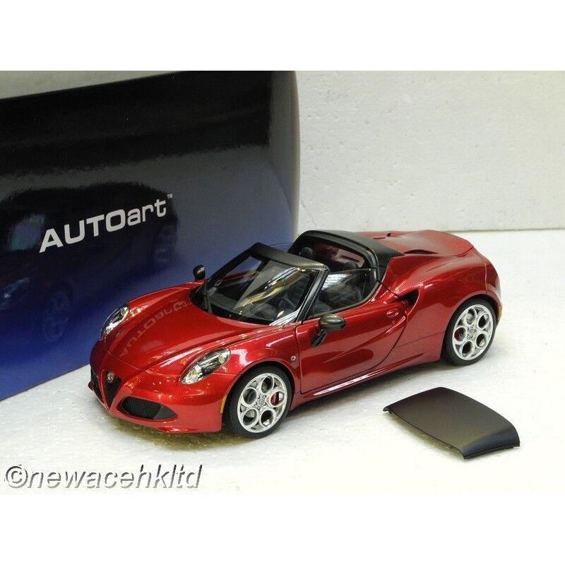 ALFA ROMEO 4 C Spider Competition rouge Autoart MODEL 1 18  70142