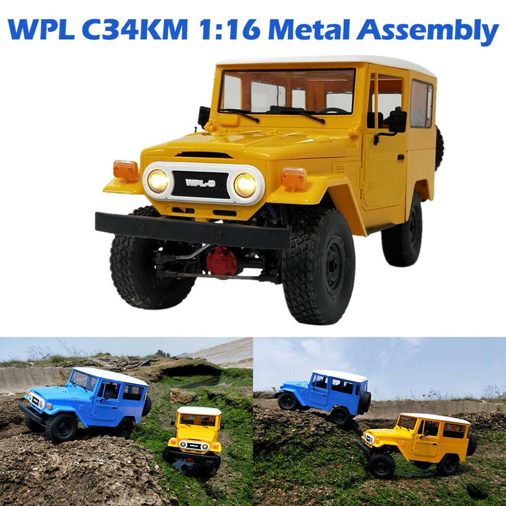 4-rad propulsión RC auto 1 16 16 16 WPL c34km kit todoterreno metal chasis control remoto Car  para proporcionarle una compra en línea agradable