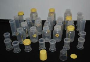 Medela-Baby-Bottle-lot-of-35-Lids-Rings-Cap-Nipples-8-oz-5-oz-2-5-oz-35ML