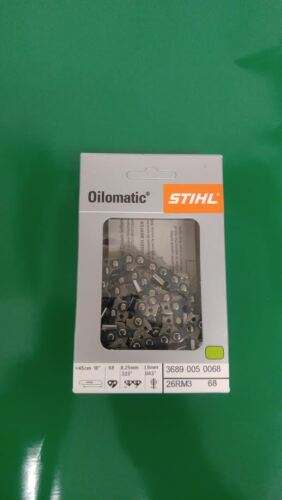 "Stihl 26RM3 68 MS250 MS251 Saw Chain 18/"" Rapid Micro .325 .63  3689 005 0068"