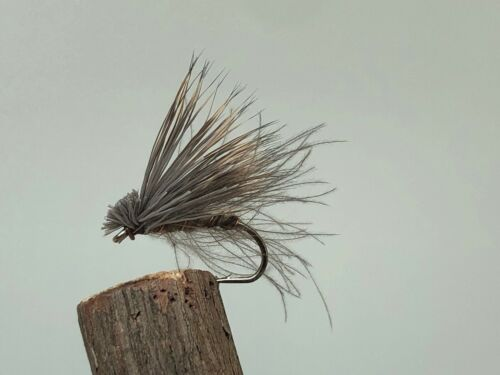 6 x Oliva Elk Hair Caddis Size 12.