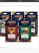 Magic 2014 / M14 Set of Five Intro Decks ENGLISH Sealed New free ship