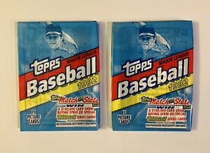 1992-TOPPS-MLB-MAJOR-LEAGUE-BASEBALL-FACTORY-SEALED-UNOPENED-PACKS-2-PACK-LOT
