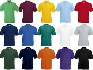 Fruit Of The Loom Mens 65 35 Polyester Cotton Polo Shirt Workwear
