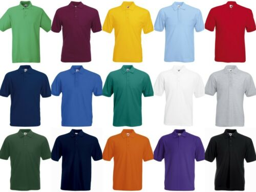 FRUIT OF THE LOOM MENS 65 35 POLYESTER COTTON POLO SHIRT WORKWEAR CASUAL WORK