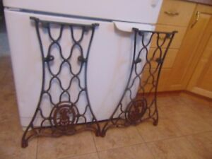antique sewing machine base /stand/legs nice # 4093