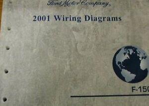 2001 Ford F-150 F150 Truck WIRING Diagrams Service Shop Repair Manual EWD