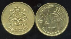 MAROC  MOROCCO  20 santimat 1987 etat