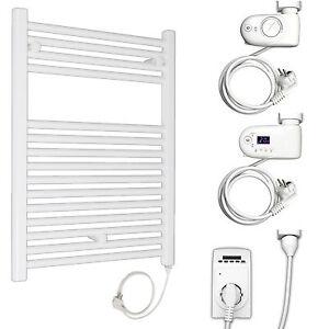Elektro-Badheizkoerper-Handtuchwaermer-Heizung-Handtuchtrockner-Halter-elektrisch