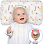 Baby Pillow for Sleeping Memory Foam Unisex Infant Pillow Baby Head Shaping Flat