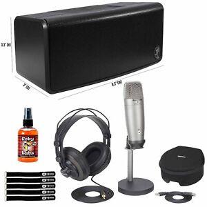 Home Recording USB Condenser Microphone w Bluetooth Speaker & Headphones