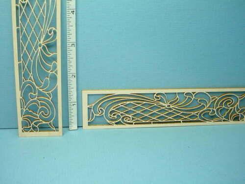 Miniature Decorative French Door Mullions Pr #N-F Laser Creations
