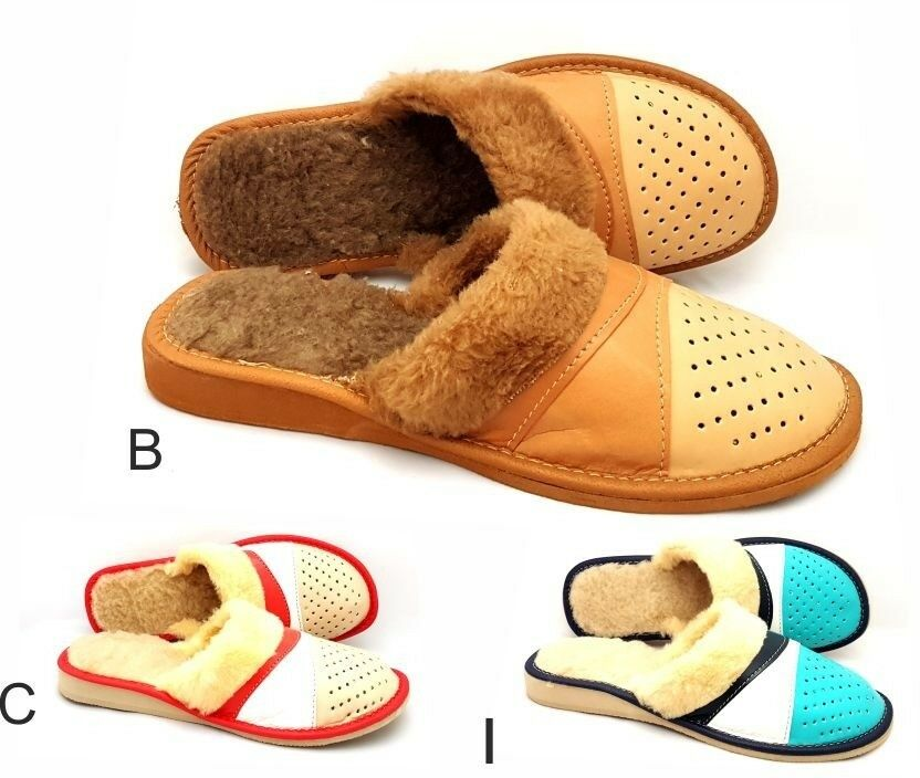 Mr/Ms Environmentally Ladies/Womens 100% Natural Leather Slippers Size:3,4,5,6,7, Fine processing Environmentally Mr/Ms friendly Explosive good goods a9f12d