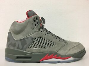 efa78eb9b2f09c Nike Mens Air Jordan 5 Retro Reflective Camo Dark Stucco Red 136027 ...