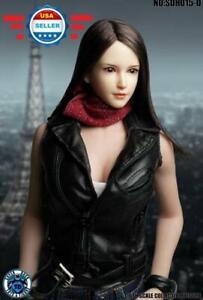 "SUPERDUCK 1/6 Female Head Sculpt SDH015 D for 12"" PALE PHICEN TBL Figure Doll"