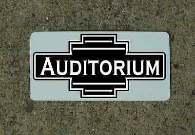 AUDITORIUM  Metal Sign 4 Retro-vintage Art Deco Tin for Auto Airplane Ship Train