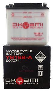 Charmant Batteria Okyami Yb16b-a 12v 16ah Suzuki Vs Gl Intruder 600 1995 1996 1997 Surface LustréE