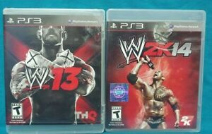 WWE-13-2K14-Wrestling-Sony-PlayStation-3-PS3-Game-Lot-Working-Tested