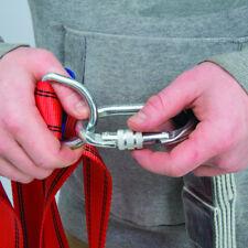 2 x Screw Lock Carabiner Karabiner Clip Hook Heavy Duty Scaffold Climbing 25kn
