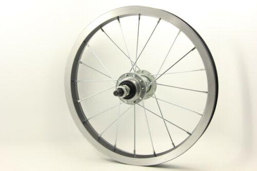 Rear Wheel 14 X 1.75/'/' Scooter Kids eBike Bicycle Aluminum Iron 165mm Axle Black