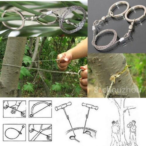 Steel Wire Saw Bushcraft Hunting Camping EDC Emergency Survival Gear Tool DP