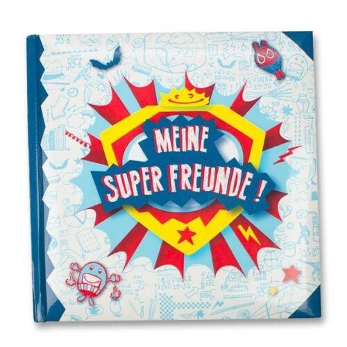 """Freundebuch /"""" SCHUL-HEROES /"""" Supermann für Power /& Erfolg # Eintragebuch Poesie"""