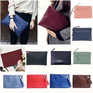 Women-039-s-Large-Envelope-Texture-Clutch-Purse-Wallet-Bag-Tote-Handbag-Party-Bag