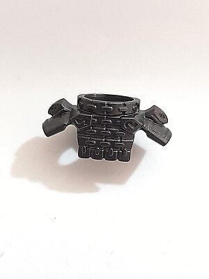 PARTS LEGO-MINIFIGURES SERIES X 1 DARK GRAY BODY ARMOUR FOR MINIFIGURES REF B