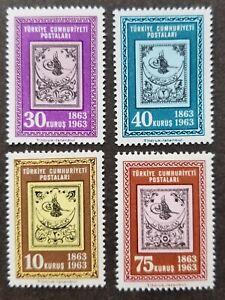 [SJ] Turkey 100 years Turkish Stamps 1963 Centenary (stamp) MNH