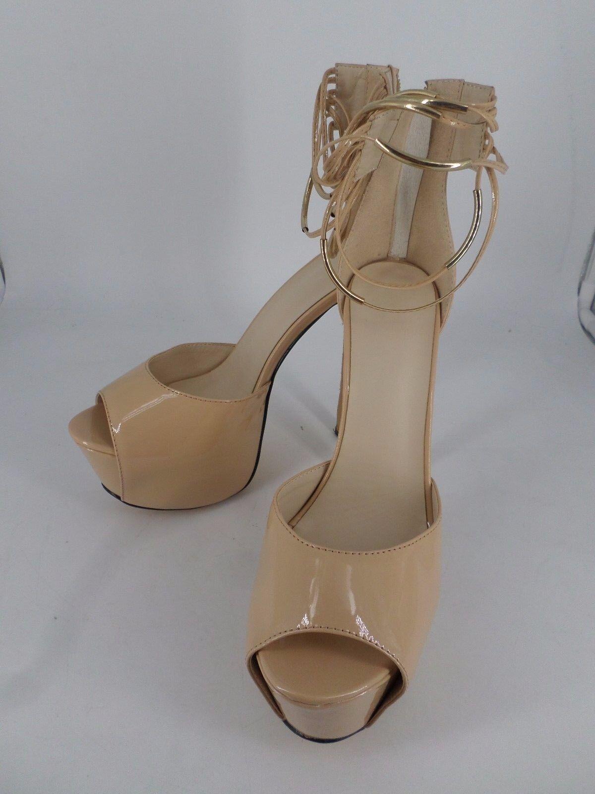 shoes Pie Apricot Platform Ankle Strap Peep Toe Heels UK 7 EU 41 LN27 32 SALEs