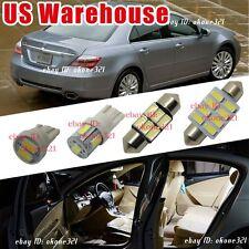 13-pc Super White Car Interior LED Light Package Map Kit For 2005-2012 Acura RL