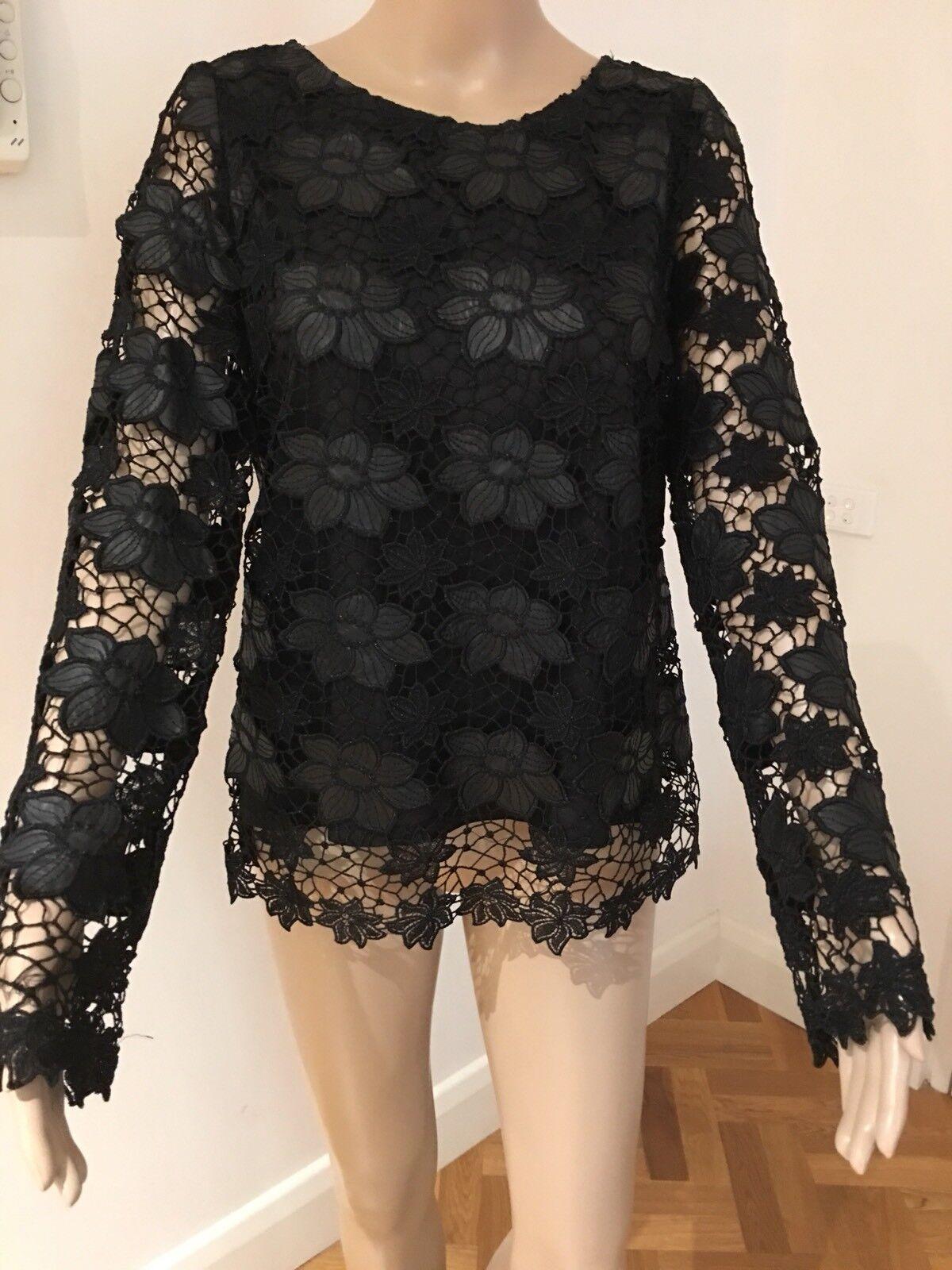 ETINCELLE COUTURE PARIS Lace Blouse Size 2 Medium New W o Tags