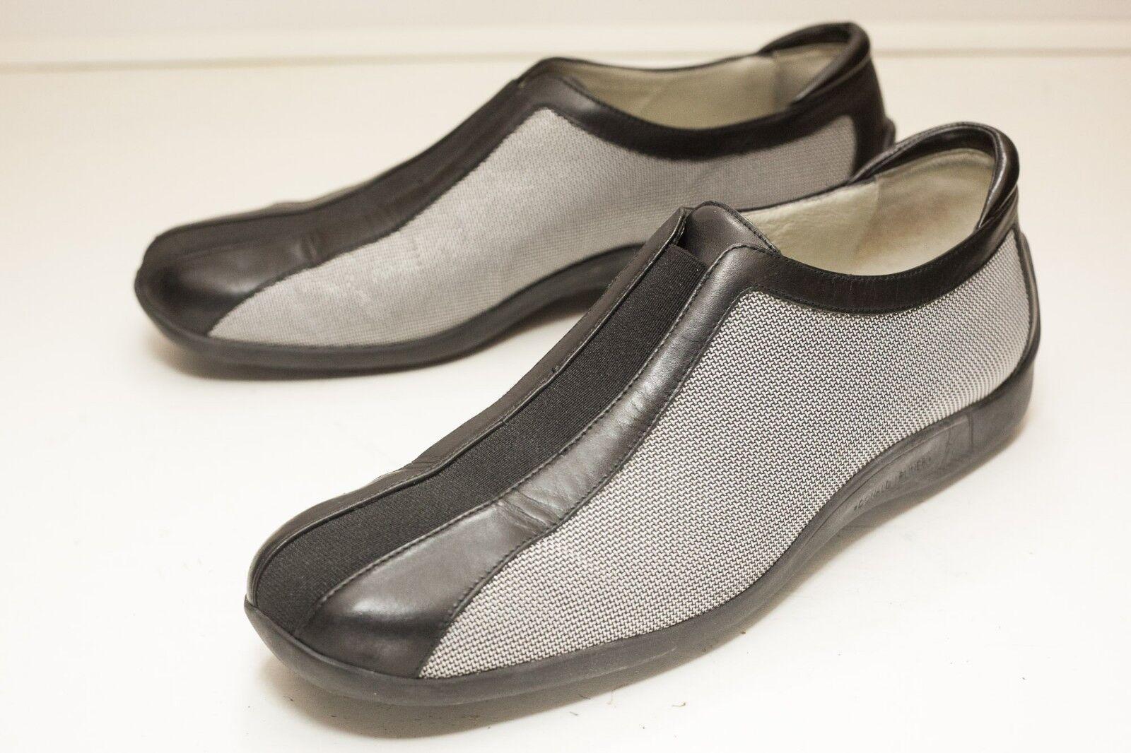 Donald J Pliner 10 Plata Negro Negro Plata Slip On tacón bajo para mujer bfea0e