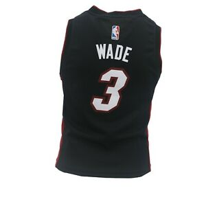 low priced 4bdff 1b896 Details about Miami Heat Official NBA Adidas Apparel Youth Kids Size Dwyane  Wade Jersey New
