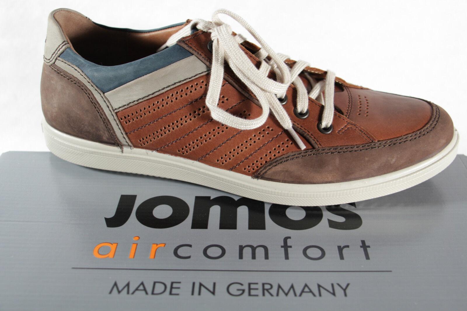 Jomos aircomfort Herren Schnürschuh 316216  Sneakers Halbschuh braun Leder  316216 NEU da6249