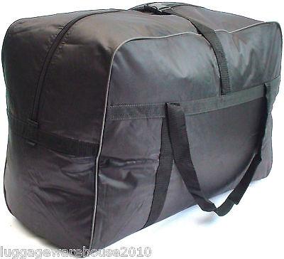 Large 130 Litres Lightweight Black Holdall Travel Storage Camping Bag Cargo L