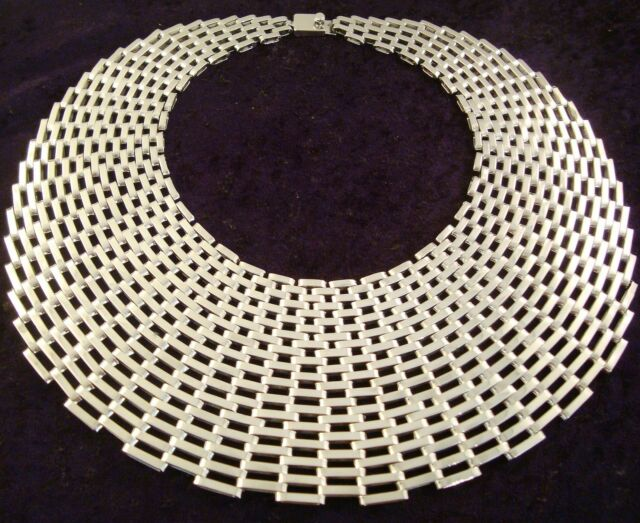 TAXCO MEXICAN 925 STERLING SILVER WIDE HEAVY MAJESTIC CHAIN LINK NECKLACE MEXICO