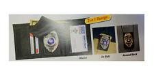 3n1 POLICE SHERIFF NYLON TRI-FOLD BADGE SHIELD ID NECK CHAIN CASE HOLDER WALLET