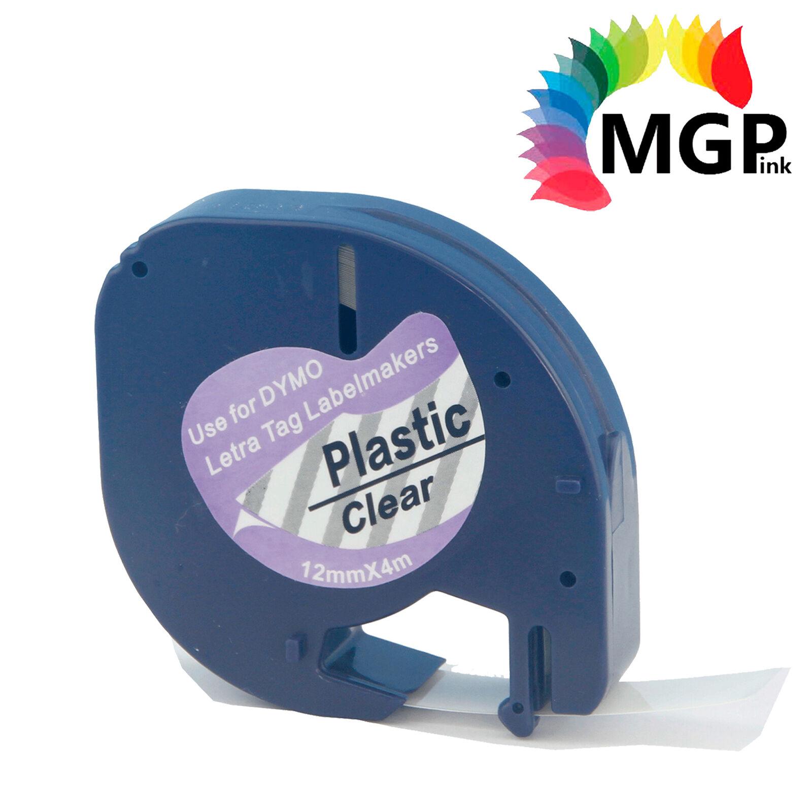 30X Compatible Dymo LetraTag Plastic Label Tape Cassette SD12267 12mmx 4m