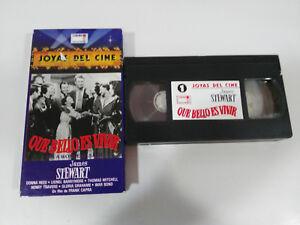 QUE-BELLO-ES-LEBEN-FRANK-CAPRA-JAMES-STEWART-VHS-KASSETTE-TAPE-SPANISCH