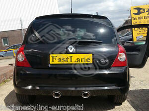 Renault Clio Custom Built Stainless Steel Exhaust Cat Back Dual