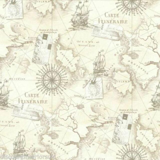 Arthouse VIP Navigator Neutral Vintage Maps Wallpaper 622003