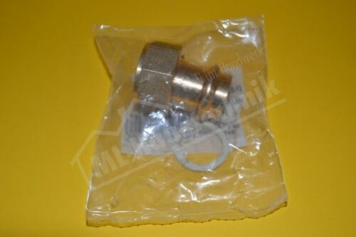 Press Fitting Solar Verschraubung flach halb IG 15-18-22 Rotguss V-Kontur