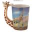 thumbnail 4 - Animal Shaped Handle Ceramic Mug Tea Coffee Cup Novelty Gift Jungle Tropical